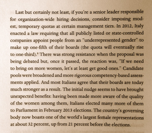 "Italy as best practice for the ""Female Opportunity"""
